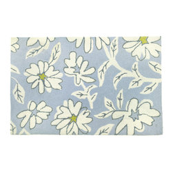 Homefires - White Daisies Rug - Not your garden variety floor covering. If you want to cultivate a brighter welcome at your door, try planting this cheerful flower rug at the threshold. Or pick a bunch, and use them in the bathroom, by the kitchen sink or next to your bed.