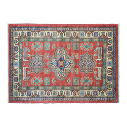 Oriental Rug, High Quality Kazak 3'X5' Hand Knotted 100% Wool Rug SH11157 - This collections consists of well known classical southwestern designs like Kazaks, Serapis, Herizs, Mamluks, Kilims, and Bokaras. These tribal motifs are very popular down in the South and especially out west.