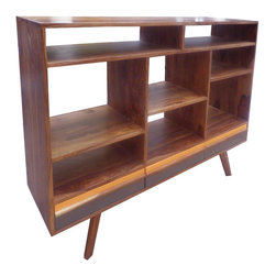 Cubby Bookshelf - Our Cubby Bookshelf is a fun, modern design while maintaining a timeless elegance. Constructed of gorgeous, richly finished wood, it is a truly versatile piece, with plenty of space for both books and décor. Our Cubby Bookshelf is of superior craftsmanship—an heirloom in the making.