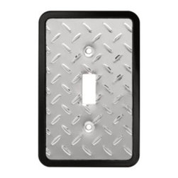 Liberty Hardware - Liberty Hardware 135858 Diamond Plate WP Collection 3.15 Inch Switch Plate - A simple change can make a huge impact on the look and feel of any room. Change out your old wall plates and give any room a brand new feel. Experience the look of a quality Liberty Hardware wall plate. Width - 3.15 Inch, Height - 4.9 Inch, Projection - 0.2 Inch, Finish - Polished Chrome, Weight - 0.15 Lbs.
