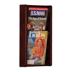 Wooden Mallet - Oak Magazine Wall Rack w Acrylic Panel Fronts - Finish: Medium OakMagazine and brochures will easily stay organized with this oak wall display rack, featuring acrylic pockets and removable dividers allowing you to display both large and small pieces of literature. The piece is perfect for doctor's offices or small businesses, and is available in your choice of finish options. Furniture quality construction with solid oak uprights and clear acrylic pocket front panels. Pre-drilled with hardware included for simple wall mounting. Available wood finishes perfectly compliment Wooden Mallet's Dakota Wave furniture collections. Pictured in Dark Red Mahogany. No assembly required. Optional removable dividers not included give you the versatility to display as many 4 in. brochures as you need, in which ever location you prefer, and they can easily be changed to adjust for your future needs. 1-Year warrantyDimensions. 3 in. D x 11 in. W x 19 in. H (5 lbs.). Removable Divider: 5 in. D x 8 in. W x 5 in. H (1 lb.)Wooden Mallet's Acrylic & Oak Wall Displays are specifically designed to hold single sheets of paper without drooping. This beautiful wall mountable rack will showcase your literature in style. Our innovative overlapping shelves allow you to display more literature in less space.
