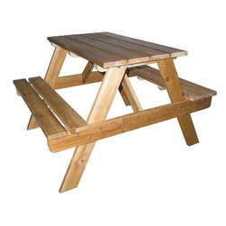 Ore Kids Indoor-Outdoor Picnic Table - You can never go wrong with a sturdy picnic table that the kids probably can't manage to tip over.