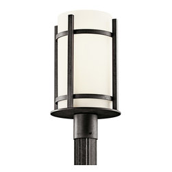 Kichler Lighting - Kichler Lighting 49123AVIFL Camden 1 Light Post Lights & Accessories in Anvil Ir - Outdoor Post Mt 1Lt Fluoresc