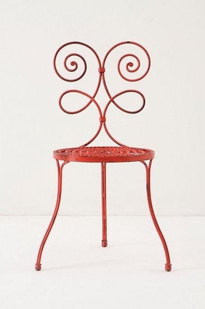 eclectic outdoor chairs Versha Red Chair