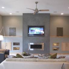 Contemporary Living Room by Shannon Boyle