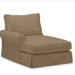PB Comfort Roll Arm Left Arm Chaise, Polyester Wrap, Washed Linen/Cotton Walnut - Sink into this comfort sectional just once, and you'll know how it got its name.With extra-deep seats and three layers of thick padding on the arms and back, these eco-friendly components provide roomy comfort for the whole family. {{link path='pages/popups/PB-FG-Comfort-Roll-Arm-4.html' class='popup' width='720' height='800'}}View the dimension diagram for more information{{/link}}. {{link path='pages/popups/PB-FG-Comfort-Roll-Arm-6.html' class='popup' width='720' height='800'}}The fit & measuring guide should be read prior to placing your order{{/link}}. Choose polyester wrapped cushions for a tailored and neat look, or down-blend for a casual and relaxed look. Choice of knife-edged or box-style back cushions. Proudly made in America, {{link path='/stylehouse/videos/videos/pbq_v36_rel.html?cm_sp=Video_PIP-_-PBQUALITY-_-SUTTER_STREET' class='popup' width='950' height='300'}}view video{{/link}}. For shipping and return information, click on the shipping tab. When making your selection, see the Quick Ship and Special Order fabrics below. {{link path='pages/popups/PB-FG-Comfort-Roll-Arm-7.html' class='popup' width='720' height='800'}} Additional fabrics not shown below can be seen here{{/link}}. Please call 1.888.779.5176 to place your order for these additional fabrics.