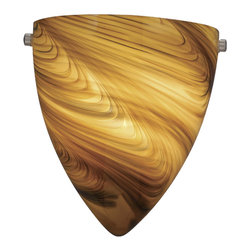 "Vaxcel - Vaxcel Milano 9"" Wall Sconce - Milano 9"" Wall Sconce Satin Nickel Mocha Swirl Glass"