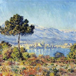 """Monet View of Antibes from the Notre-Dame Plateau Print - 16"""" x 20"""" Claude Oscar Monet View of Antibes from the Notre-Dame Plateau premium archival print reproduced to meet museum quality standards. Our museum quality archival prints are produced using high-precision print technology for a more accurate reproduction printed on high quality, heavyweight matte presentation paper with fade-resistant, archival inks. Our progressive business model allows us to offer works of art to you at the best wholesale pricing, significantly less than art gallery prices, affordable to all. This line of artwork is produced with extra white border space (if you choose to have it framed, for your framer to work with to frame properly or utilize a larger mat and/or frame).  We present a comprehensive collection of exceptional art reproductions byClaude Oscar Monet."""