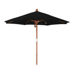 California Umbrella - 7.5 Foot Sunbrella Fabric Pulley Open Wood Market Umbrella - California Umbrella, Inc. has been producing high quality patio umbrellas and frames for over 50-years. The California Umbrella trademark is immediately recognized for its standard in engineering and innovation among all brands in the United States. As a leader in the industry, they strive to provide you with products and service that will satisfy even the most demanding consumers.