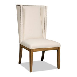 """Hooker Furniture - Hooker Furniture Dining Chair - Glamour meets comfort with the Bayeaux Natural Dining Chairs. Hardwoods Solids and Fabric; Fabric Content: 50% Polyester, 50% Linen. Dimensions: 24.5""""W x 30""""D x 46.5""""H."""