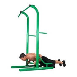 Stamina Outdoor Fitness Power Tower - Bring your workout to an outdoor setting with the Stamina Outdoor Power Tower. Constructed from heavy gauge steel with stainless steel hardware, this Power Tower was designed to remain sturdy and withstand the elements. Its pain is also resistant to the elements, chipping, fading (UV protection), and corrosion. All intended exercises include: push-ups, pull-ups, sit-ups, chin-ups with multiple grip positions, tricep dips, and vertical knee raises. Requires little maintenance to assemble.About Stamina Products, Inc.Founded in 1987, Stamina is dedicated to building a stronger, healthier you. The company supplies high-quality products at excellent value to the fitness and leisure markets, showcasing hundreds of products around the world over the past two decades. Stamina is responsible for such brands as Body by Jake, Suzanne Somers, Tony Little, and more. Their mission is straightforward and admirable: Stamina strives to outperform the competition by maintaining effective communication, consistent quality, and superior service. They will continue to pursue perfection through the design excellence of these home fitness products.