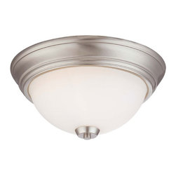 Minka-Lavery - Overland Park Brushed Nickel Two Light Flush Mount - - Overland Park Two Light Flush Mount in Brushed Nickel Finish with Etched Opal Glass  - Canopy Dimension: 13.25W x 2H Minka-Lavery - 4960-84
