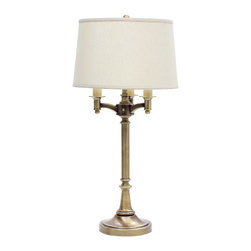 House of Troy - House of Troy L850 Lancaster Antique Brass Table Lamp - House of Troy L850-AB Lancaster Antique Brass Table Lamp