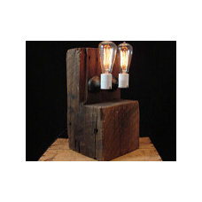 Rustic Table Lamps by AES Mobile Studios