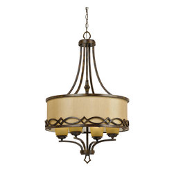Yosemite Home Decor - 4 Lights Chandelier in - Golden Dew - Feature: