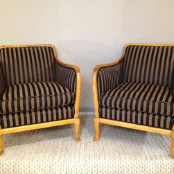 Decor NYC Consignment Archive - Pair of Swedish Biedermeier Arm Chairs