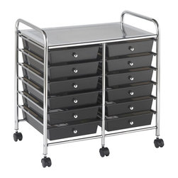 ECR4KIDS - ECR4KIDS 12 Drawer Mobile Organizer - Smoke Gray Multicolor - ELR-0261-SM - Shop for Childrens Toy Boxes and Storage from Hayneedle.com! About Early Childhood ResourcesEarly Childhood Resources is a wholesale manufacturer of early childhood and educational products. It is committed to developing and distributing only the highest-quality products ensuring that these products represent the maximum value in the marketplace. Combining its responsibility to the community and its desire to be environmentally conscious Early Childhood Resources has eliminated almost all of its cardboard waste by implementing commercial Cardboard Shredding equipment in its facilities. You can be assured of maximum value with Early Childhood Resources.