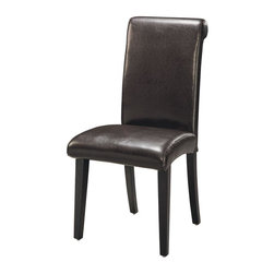 Global Furniture - Modern Upholstered Side Chair in Wenge - G020 - Contemporary style. Upholstered seat and back. Constructed with MDF. 24 in. L x 19 in. W x 40 in. H (22 lbs.)