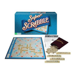 Winning Moves - Winning Moves - Super Scrabble - Best Selling Word Game of All Time. Ages 8 and Up. 2-4 Players. Game board. History Booklet. 200 wood letter tiles. Drawstring letter storage bag. 4 wood tile racks. Score pad and rules