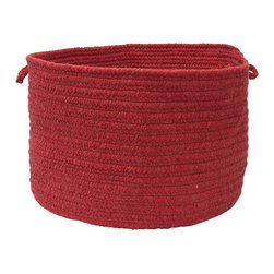 "Colonial Mills, Inc. - Sedona, Red Utility Basket, 18""X12"" - Pretty as a tomato and woven strong for carrying, this red braided wool storage basket can hold any of your would-be household clutter, from toys to towels to sewing supplies, and make the arrangement look deliberate."