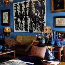 For the Home / François Halard, France. Bohemian fun, love the art.