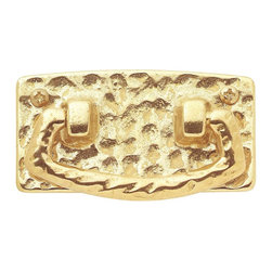Renovators Supply - Cabinet Pulls Bright Solid Brass Mission Bail Cabinet Pull - This mission style polished brass cabinet drawer pull is 3 in. wide. It has a 2 1/2 in. boring.