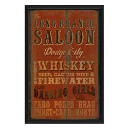 The Artwork Factory - 'Long Branch Saloon' Print - Talk about top shelf! This museum quality print on high resolution, acid-free paper makes a striking statement. It's perfect for your bar or any other setting that gets you in good spirits.