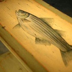 Wooden Hunt board With Striped Bass Painted - From http://www.ecustomfinishes.com