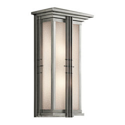 "Kichler - Kichler 49160SS Portman Square Collection 2 Light 22"" Outdoor Wall Light - Kichler 49160 Portman Square Outdoor Wall Light"