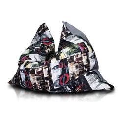 Turbo BeanBags - Beanbag Pillow Premium, T3 And Grey, Filled Bag - Premium Pillow is an amazing beanbag by coming with a innovative design. It does not take much space, you can easily transfer, ideal for fun, exercise and sleeping. You can choose from a variety of patterns.