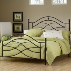 Hillsdale - Cole Metal Bed - A traditional silhouette is enhanced by unique and whimsical accents in Hillsdale Furniture''s Cole bed. Classic ball finials are accentuated by sweeping scrollwork and intricate castings. The black twinkle finish offers a great base, intensifying your d cor and color scheme. All of these wonderful details culminate with the sturdy steel construction. Features: -Bed.-Comes with frame.-Black Twinkle finish.-Cole collection.-Distressed: No.-Collection: Cole.