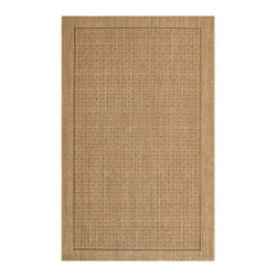 Safavieh - Alessandra Natural Fiber Rug, Natural 5' X 8' - Construction Method: Power Loomed. Country of Origin: India. Care Instructions: Vacuum Regularly To Prevent Dust And Crumbs From Settling Into The Roots Of The Fibers. Avoid Direct And Continuous Exposure To Sunlight. Use Rug Protectors Under The Legs Of Heavy Furniture To Avoid Flattening Piles. Do Not Pull Loose Ends; Clip Them With Scissors To Remove. Turn Carpet Occasionally To Equalize Wear. Remove Spills Immediately. Sophisticated in pattern and rich in texture, subtly-colored Palm Beach rugs complement myriad decorating styles and palettes. Artfully loomed of sustainable sisal natural fiber, each design is inspired by nature and geometric forms: undulating stripes,