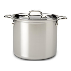 All-Clad - All-Clad Stainless Steel 16 Qt. Stockpot w/Lid (E9076474) - Timeless design, outstanding performance, effortless cleaning and lifetime durability come together to make the Stainless Collection cookware All-Clad's most popular. Featuring innovative bonded construction combining an interior layer of aluminum for even heating and an 18/10 stainless cooking surface for optimum culinary performance, All-Clad Stainless cookware is a classic expression of ideal form and function.