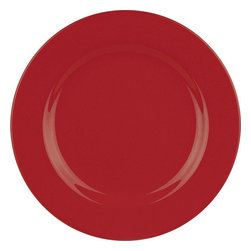 Waechtersbach - Waechtersbach Fun Factory Red Dinner Plates (Set of 4) - Bring contemporary style to the table with Fun Factory Red Dinner Plates,generously sized to accommodate your main course. Combining classic shapes with solid color,these durable ceramic pieces were created with everyday meals in mind.