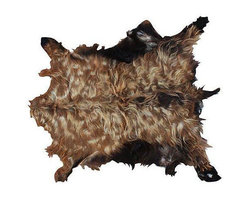 Vintage Moroccan Goatskin - Dimensions 33.0ʺW × 37.0ʺD × 1.0ʺH