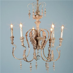 Je T'aime Chandelier - Romantic as any light fixture can be, this would add glamour and nostalgia to the bathroom, living room or bedroom.