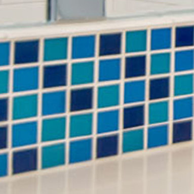 Elida Ceramica Recycled Glass Tile Mosaic Ocean in Bill Fry Project -