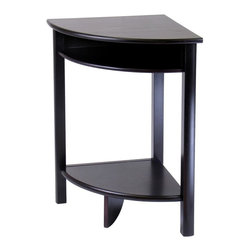 Winsome Wood - Solid Wood Corner Table w Storage Shelf in Es - * Liso Collection. Espresso finish. Solid Wood. Storage shelf. Assembly required. 20.5 in. L x 20.5 in. W x 31.1 in. H. 27 lbs
