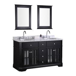 "Design Element - Design Element DEC306A Imperial 60"" Double Sink Vanity Set in Espresso - Design Element DEC306A Imperial 60"" Double Sink Vanity Set in Espresso"