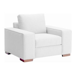 Melrose Place Wide Arm Chair, White