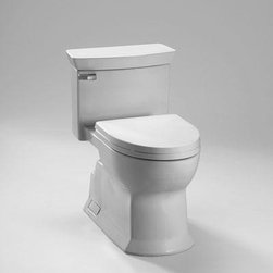 TOTO - TOTO MS964214CEFG#12 Eco Soiree One Piece Toilet, Universal Height, 1.28 GPF, Se - TOTO MS964214CEFG#12 Eco Soiree One Piece Toilet, Universal Height, 1.28 GPF, Sedona Beige When it comes to Toto, being just the newest and most advanced product has never been nor needed to be the primary focus. Toto's ideas start with the people, and discovering what they need and want to help them in their daily lives. The days of things being pretty just for pretty's sake are over. When it comes to Toto you will get it all. A beautiful design, with high quality parts, inside and out, that will last longer than you ever expected. Toto is the worldwide leader in plumbing, and although they are known for their Toilets and unique washlets, Toto carries everything from sinks and faucets, to bathroom accessories and urinals with flushometers. So whether it be a replacement toilet seat, a new bath tub or a whole new, higher efficiency money saving toilet, Toto has what you need, at a reason