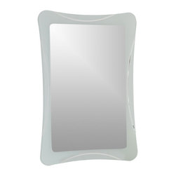 Decor Wonderland Mirrors - Decor Wonderland Frameless Shapes Mirror - The Butterfly Frameless Bathroom Mirror is unique in detail and shape. This large wall mirror is a stylish and super modern frameless bathroom mirror. Perfect mirror for your hallway, living room or bathroom.