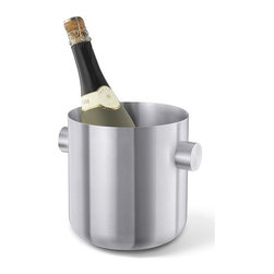 Zack - Contas Champagne Bucket - Stylish and logical design. Brushed silk polish. Made from 18/10 stainless steel. Matte finish. Made in Germany. 6.9 in. Dia. x 7.3 in. H (33.5 oz.)