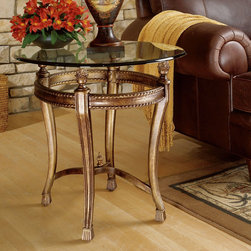 "Hammary - Suffolk Bay End Table in Tortoise Shell Color Finish - ""The best ideas in designs from around the world - combined with the finest materials available - meet in this new collection to create an unforgettable look for your home."