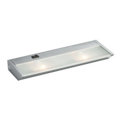 KCL - KCL Direct Wire 2-Light 20W Xenon Under Cabinet Light X-IS21021 - A beautiful Silver finish compliments the clean lines and modern style of this direct wire Kichler Lighting under cabinet light. It also features xenon bulbs to provide plenty of clean and ample light for countertop tasks.