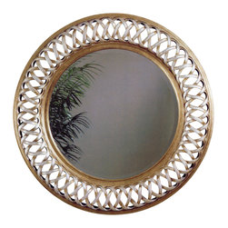 Bassett Mirror - Silver Leaf Round Wall Mirror - Silver Leaf with Bevel - Round. Measures: 45 in. W x 45 in. H.