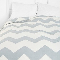 Zigzag Duvet Cover - Does your nursery double as a guest room?  If so, a chevron duvet cover would be really cute for your baby's room and fun for guests. Urban Outfitters has them is so many pretty colors.