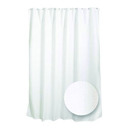 Zenith - Zenith H21WW Spa Waffle Fabric Shower Curtain Liner in White - Zenith H21WW Spa Waffle Fabric Shower Curtain Liner in WhiteThis curtain is made of luxurious waffle weave, waterproof fabric, so it can be used as a stand alone curtain without the need for a liner. This high quality machine washable fabric liner repels water and resists mildew. Feel like you are at the spa with the waffle design. Its grommets provide strength and durability while its weighted hem holds securely to the tub edge.Zenith H21WW Spa Waffle Fabric Shower Curtain Liner in White, Features:&#149 Versatile, water resistant design allows it to be used by itself or in conjunction with a liner