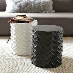 Stray Dog Side Table - Zigzags in black and white? In other words, one of my favorite patterns in my favorite color palette? I'll take one of each!