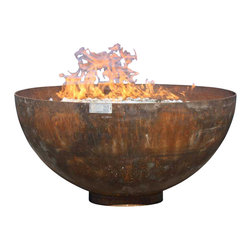 John T. Unger - Big Bowl O' Zen Sculptural Firebowl, 41 Inch Diameter - Every home needs a center of serenity. The calm lines of the Big Bowl O' Zen make a statement without speaking loudly. It just is.